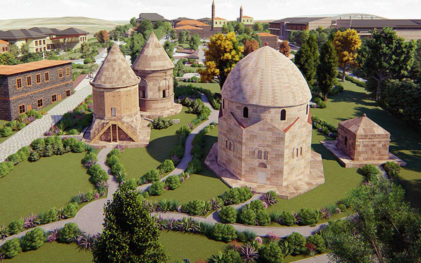 Renovation of The Three Domes Vicinity